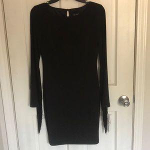 Jessica Simpson fringed sleeve cocktail dress
